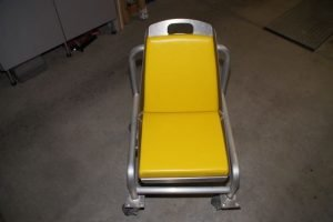 Electrician Work Seat for use in Locomotive Repair Facility