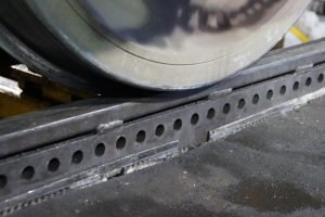 136# Rail with machined plates