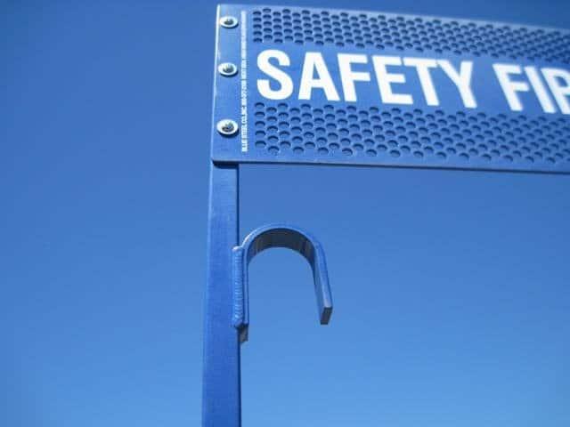 Powder Coated FRA and OSHA Blue Flag Protection