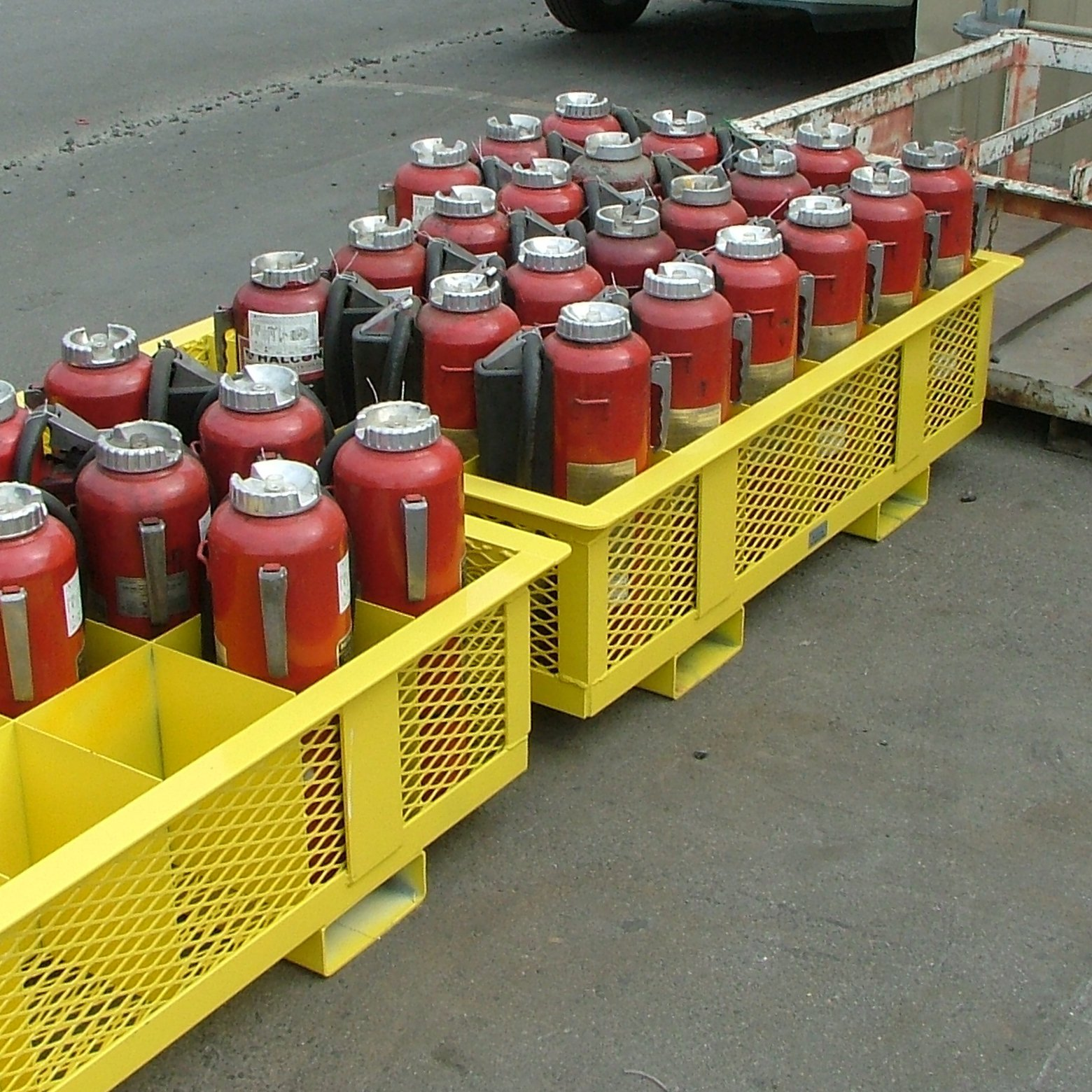 Safe Organized Fire Extinguisher Storage
