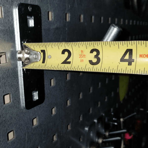 3/8 Post Heavy Duty Pegboard hanger